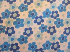 Daisy Large Print Polycotton Fabric in Blue